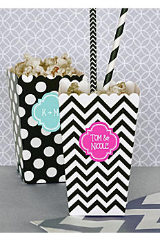Personalized Popcorn and Treat Boxes Set of 12 EB4008P