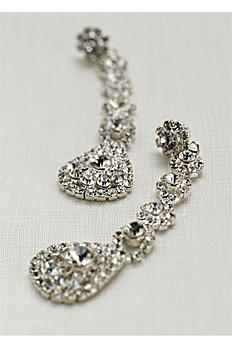 Long Flower Crystal Earrings EH0148