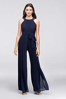 Long Jumpsuit Halter Dress - Reverie