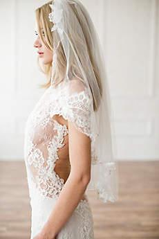 Alencon Lace Appliqued Veil