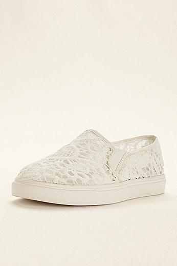 Steve Madden Bridal Lace Slip On Sneaker ELIA