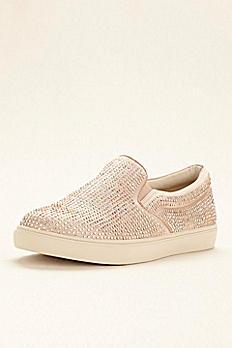 Steve Madden Crystal Embellished Slip On Sneaker ENA