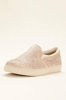 Steve Madden Black Closed Toe Shoes (Steve Madden Crystal Embellished Slip On Sneaker)