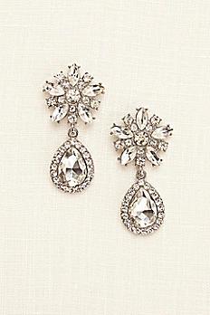 Starburst Crystal Teardrop Earrings ER17887