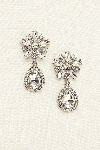 Starburst Crystal Teardrop Earrings ER17887