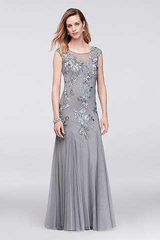 Mother of the Bride Dresses in Silver, Gold and Champagne | Davids ...