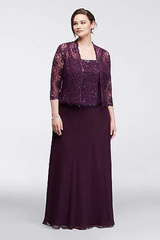 The Mother of Groom Dresses Plus Size Eggplant Color
