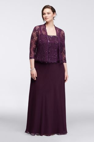 Plus size clothing mother of the bride dress