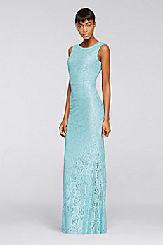 Sleeveless Allover Sequined Lace Dress ESHMP003
