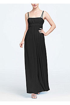 Spaghetti Strap Chiffon Dress with Beaded Empire F12495