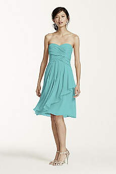 Teal Bridesmaid Dresses: Short &amp- Long Styles - David&-39-s Bridal