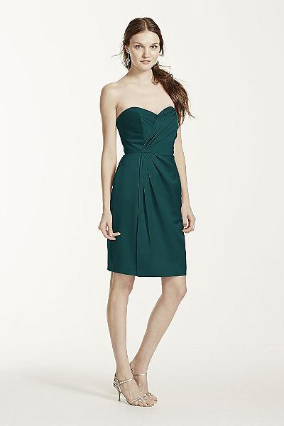 david's bridal bridesmaid dresses strapless chiffon short dress ...