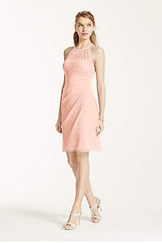 Short Sheath Halter Cocktail and Party Dress - David's Bridal