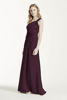 Structured David's Bridal Long Bridesmaid Dress