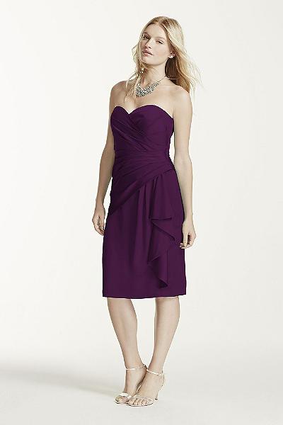 strapless chiffon short dress style f12284 malibu | Luxury Hotels ...