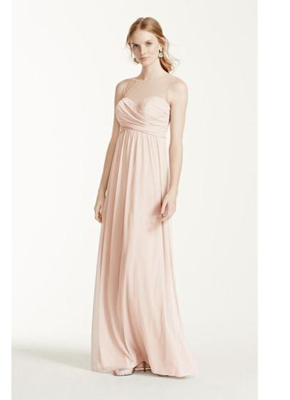 Long Mesh Dress with Illusion Sweetheart Neckline | David's Bridal