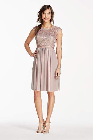 Rose Gold Metallic & Sequin Bridesmaid Dresses | David's Bridal
