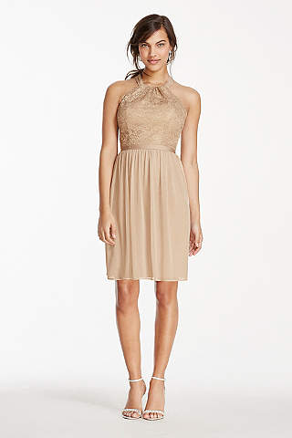 Gold & Champagne Bridesmaid Dresses | David's Bridal