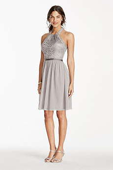 Silver Bridesmaid Dresses: Short &amp Long  David&39s Bridal