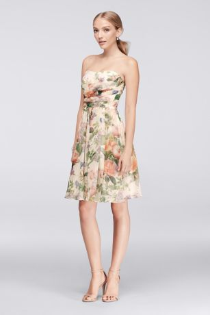 Floral Short Bridesmaid Dresses