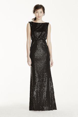 Cap sleeve maxi sequin dress