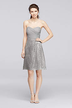 Silver Bridesmaid Dresses Short Amp Long David S Bridal