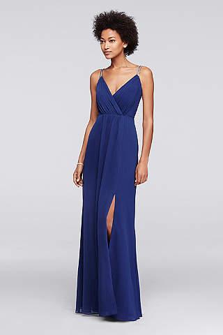 Long A Line Spaghetti Strap Formal Dresses Dress