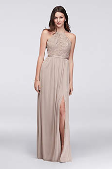 Long Sheath Halter Dress - David's Bridal