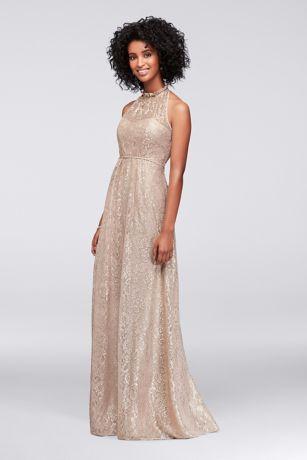 Gold a Line Dress