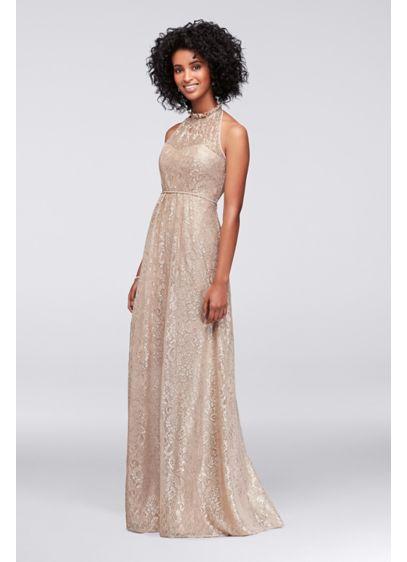 Long Pink Soft Flowy David S Bridal Bridesmaid Dress