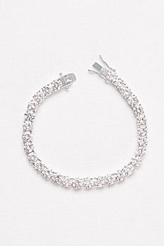 6MM Cubic Zirconia Solitaire Bracelet F2007