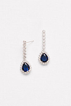 Pear Sapphire Drop Earrings F2009