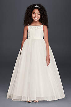 Long Ballgown Halter Communion Dress -