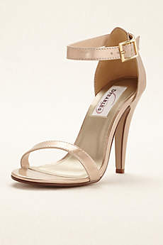 Dyeables Ivory Sandals (Faith Metallic Ankle Strap Sandal)