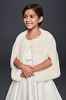 Flower Girl Faux  Fur Cape FCA0033
