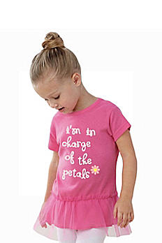 I'm In Charge of the Petals Tutu Flower Girl Tee FG103