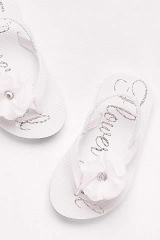 Flower girl shoes girls dress shoes davids bridal davids bridal white flowergirl shoes flower girl flip flops mightylinksfo