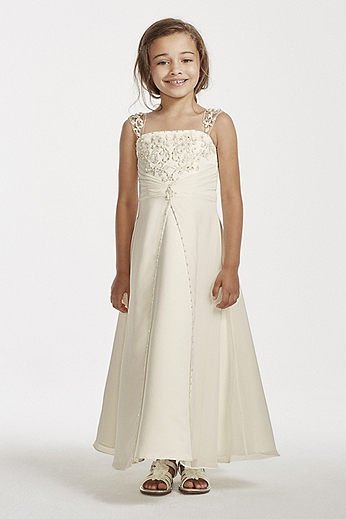 Satin A-line gown with beaded metallic embroidery FG9010