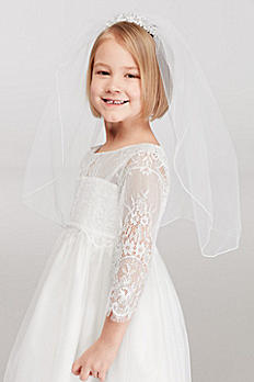 Flower Girl Mini Tiara Veil with Comb FG9100