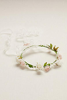 Flower Girl Flower Crown with Ribbon FG9104