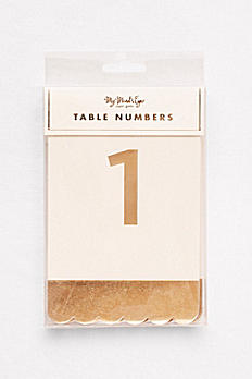 Scalloped Metallic Table Numbers FYP110