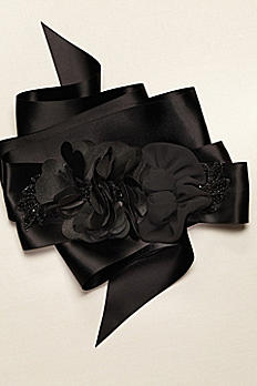 Mix Media Sash with Charmeuse Flower G21407