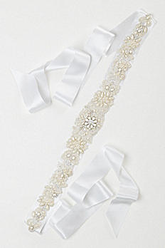 Heavily Embellished Pearl Sash G22302