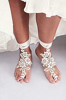Crochet Lace Foot Jewelry with Beading G22477