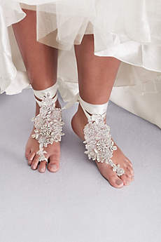 Ivory Jewelry Sets (Beaded Floral Foot Jewelry)