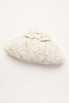Guipure Lace and Satin Bridal Pouch by Menbur GALATEA