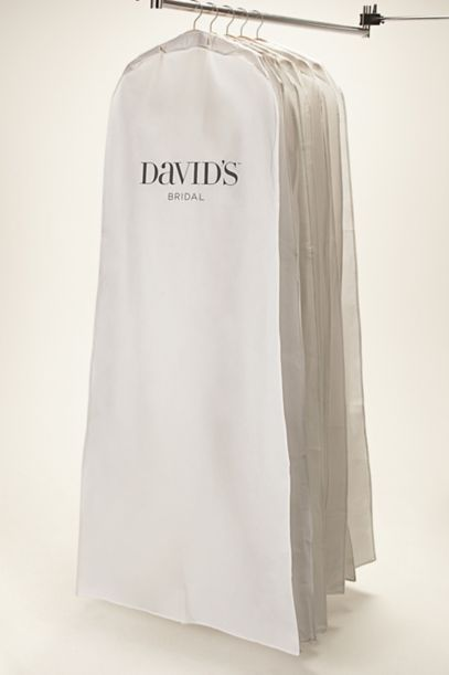 White Side Zip Garment Bag | David's Bridal