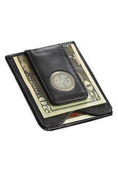 Personalized Leather Wallet and Money Clip GC1041
