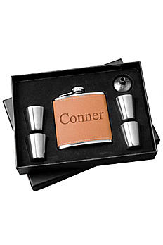 Personalized Hide Flask and Shot Glass Gift Set GC1246