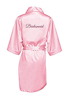 Glitter Print Bridesmaid Satin Robe GLTRB-BM